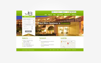 Hotel Website design in faridabad